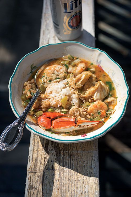 FROM ISSUE #168Abbeville, Louisiana native Janice Macomber, who teaches Cajun-style cooking to locals and visitors at the annual New Orleans Wine and Food Experience, gave us the recipe for this seafood-laden, subtly spicy gumbo made from the bounty of Louisiana's waters. Into the pot go blue crabs, shrimp, and delicious chunks of lump crabmeat, resulting in a dish that's reminiscent of the bayous of south Louisiana. No matter where you live, be sure to use the freshest seafood available.