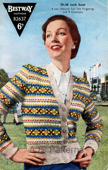 49 best vintage knit images on Pinterest | Blouses, Drawing and ...