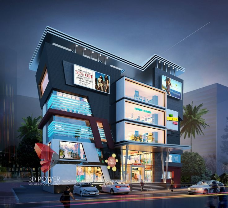 3d Rendering With Exterior Elevation Fpor Shopping Mall Elevation Exterior Fpor Mall Rendering Mall Facade Exterior Rendering Office Building Architecture