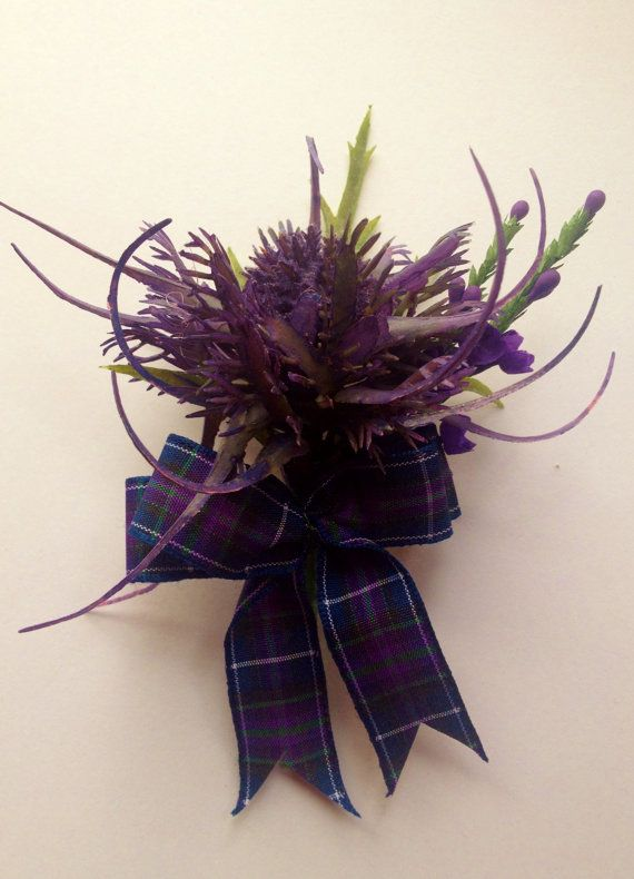 Stunning  Scottish Thistle Buttonhole for the Groom ,Best Man ,,Usher, Guest Wedding. on Etsy, $11.03