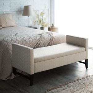 Upholstered Storage Bench For Bedroom