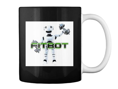 Fitbot   Gym Time #9 Black Mug Back