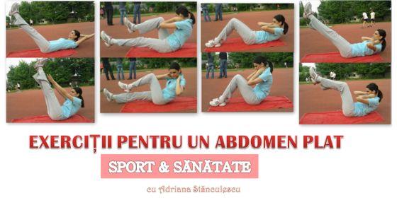 exercitii pentru un abdomen plat