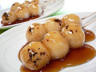 Recetas Japonesas en español!: Mitarashi Dango - Bolitas de masa de arroz