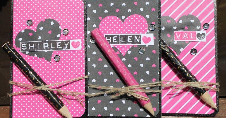 Stampin' Sarah!: A Pop of Pink Club Gift Notebook from Stampin' Up! UK Demonstrator Sarah Poulton
