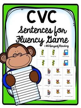 This is included in my Back to School Bundle This is a game that practices easy sight words and CVC pattern words. These sentences are great for those beginning readers! To Play: Print and cut out cards. Place cards in a pile. Students will take turns reading the sentences.