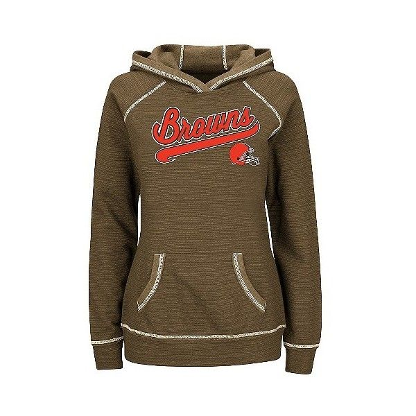 Cleveland Browns Women's Fleece Pullover Hoodie Sweatshirt (135 BRL) ❤ liked on Polyvore featuring tops, hoodies, sweatshirts, cleveland browns, cleveland browns hoodies, fleece shirt, fleece pullover, cleveland browns hoodie and hooded pullover sweatshirt