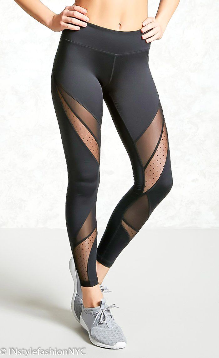 c3e17b4f2a8 Women s Black Mesh Patchwork Leggings