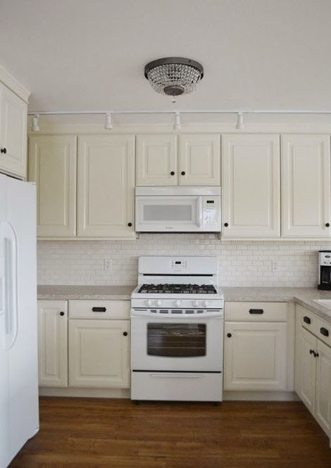 Hanging Kitchen Cabinet Doors With Concealed Euro Hinges   Momplex Vanilla  Kitchen | Ana White