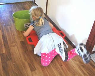 A Little Learning For Two: Letter Sound Sorting (Gross Motor Activity)