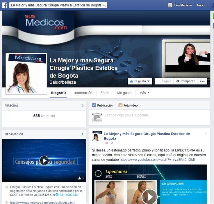 pagina de FB dedicada a la cirugia plastica de elite en bogota