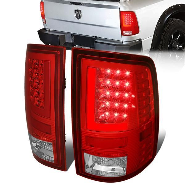 09 17 Dodge Ram 1500 2500 3500 Red L Bar Led Rear Brake Tail Lights Tail Light Led Tail Lights Ram 1500