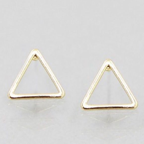 triangle studs Simple open triangle design-  *please understand that this is retail meaning I had to purchase from a wholesaler so the current price is the only way I will make a profit - price is firm - thank you for your support ❤️ Jewelry Earrings