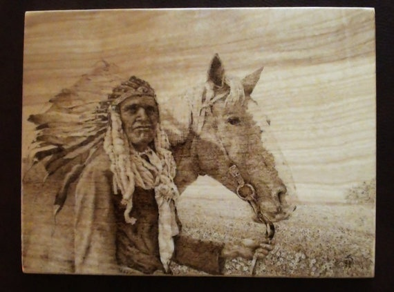 Hand Drawn  Custom Made For You  Pyrography by HAWKESPYROGRAPHY, $145.00