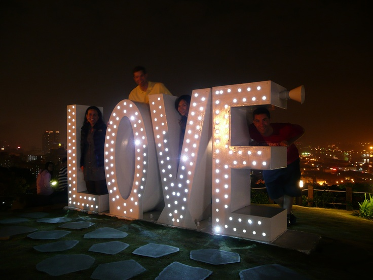 New attraction ... the Harbor overlook sign in Kaohsiung