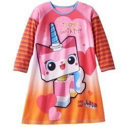 LEGO The LEGO Movie Uni-Kitty Mock-Layer Nightgown - Girls