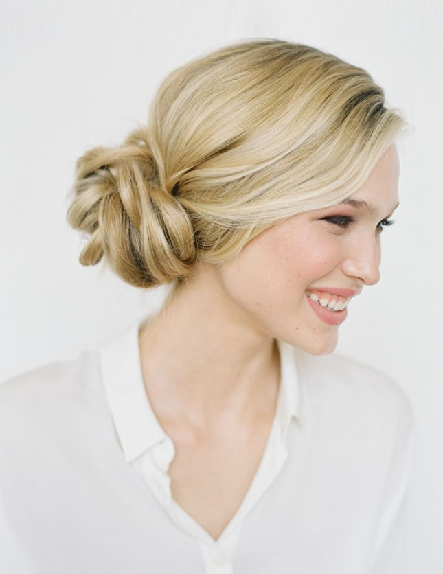 It only takes 4 steps to DIY this knotted bun.