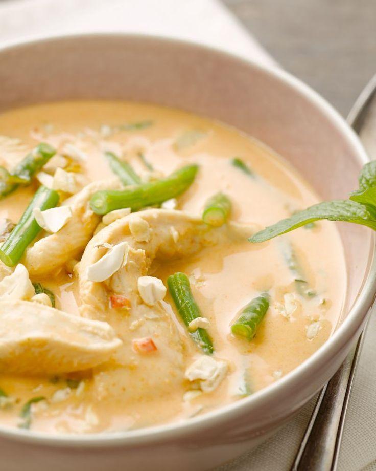 Thaise rode curry met kip - recept