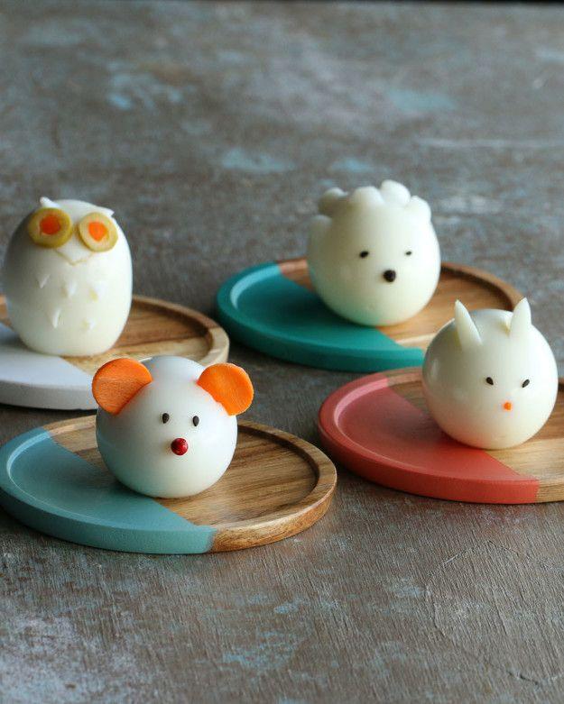 Animal Shaped Boiled Egg 4 Ways