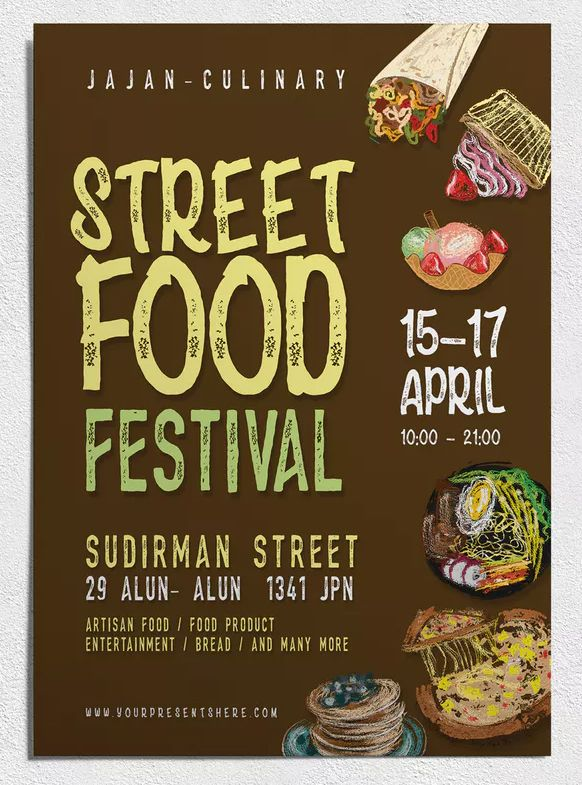 Food Festival Flyer Template PSD - A4 Format / 827\