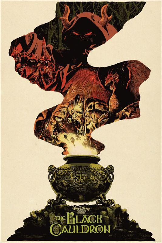 Taram et le Chaudron magique   21 réinterprétations de dessins animés Disney