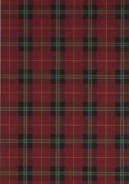Red plaid wallpaper. Winslow Plaid from Thibaut