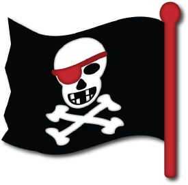 Free freebees gratis download SVG file and or scut file scrapbook Pirate flag piraten vlag