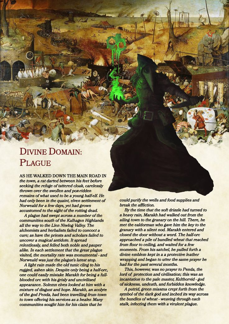 DnD 5e Homebrew — Plague Domain Cleric by BalthasarBarikdral