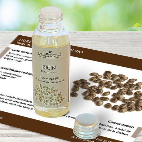 Huile végétale de Ricin BIO pour favoriser la pousse des cheveux et des cils, et aussi fortifier les ongles.