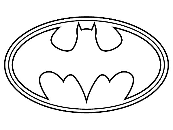 Superhero Logos Coloring Pages Fair 16 Best Batman Images On Pinterest  Coloring Books Coloring .