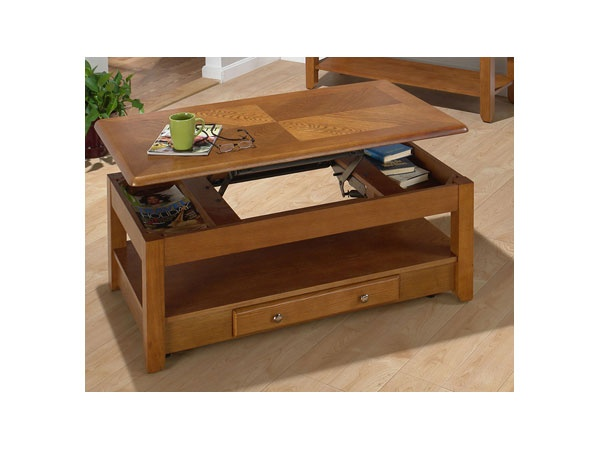 Lowest Price Online On All Jofran 480 Series Wood Lift Top Cocktail Coffee Table In Oak