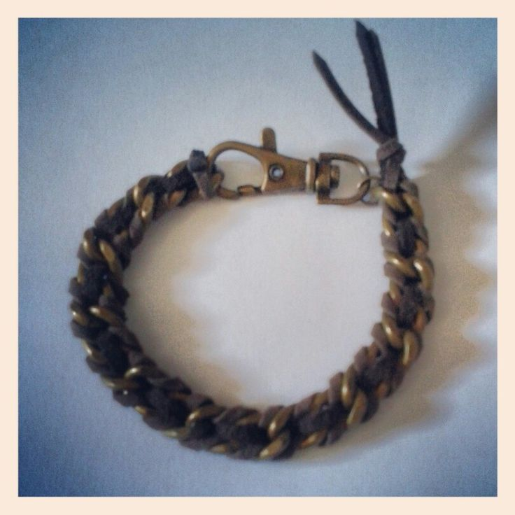 Male bronze chain bracelet by Pélopé Shop www.pelopeshop.blogspot.com