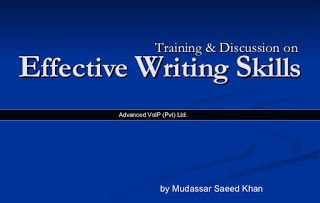 Books should be free for everyone: Effective Writing Skills (Training & Discussion)