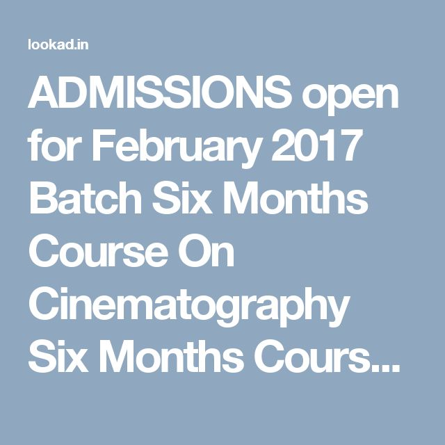 ADMISSIONS open for February 2017 Batch  Six Months Course On Cinematography Six Months Course On Screenwriting And Direction To Apply visit :http://www.mindscreen.co.in or call 9841612595 MINDSCREEN FILM INSTITUTE (MFi) 4,Ranga Lane,Ranga road,Mylapore, Chennai - 600004 Ph: +91 44 42108682 / 24996417 Mobile: +91 9841612595 E-mail: mindscreen@mindscreen.co.in Mindscreen Film Institute founded by Rajiv Menon, started as a school for Cinematography and branched out to Screenplay Writing,