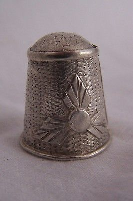 Very Good Older Vintage Mexico Sterling Silver Thimble | eBay