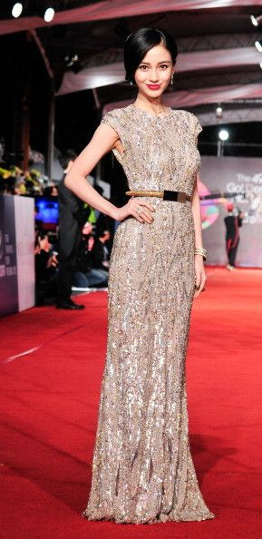 Elie Saab Light Taupe Fully Sequined Wedding Dress . As an alternative or knee lenght for an after party dress