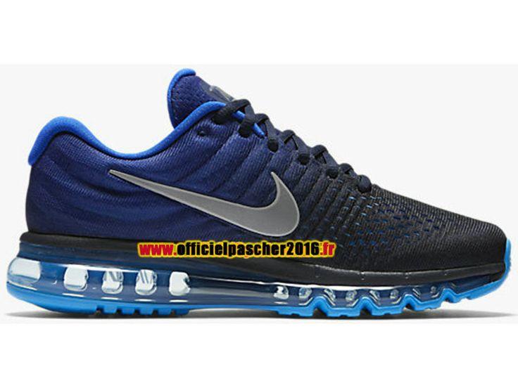Nike Air Max 2017 Chaussures Nike Officiel Pas Cher Pour Homme Noir / Bleu 849559-400