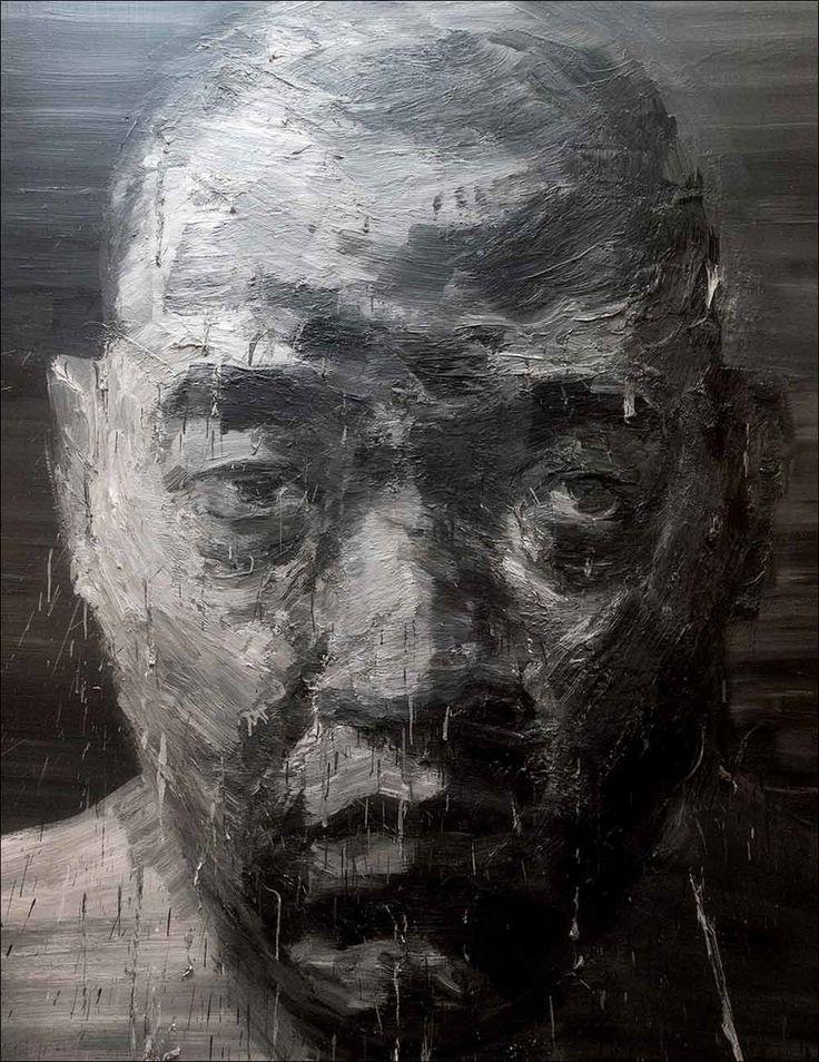 Yan Pei Ming · Self Portrait   Oil on canvas · 2000 · Musée des Beaux-Arts · Dijon