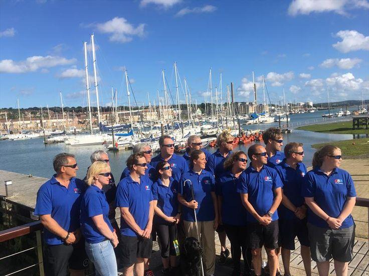 Great Britain Blind Sailing Team set