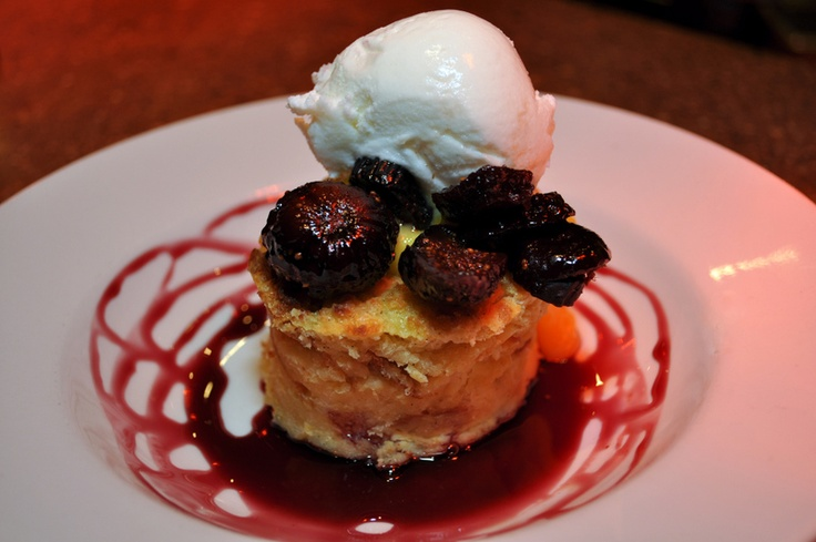 BUDINO DI PANE AL LIMONE Meyer Lemon Bread Pudding, Red Wine Poached ...
