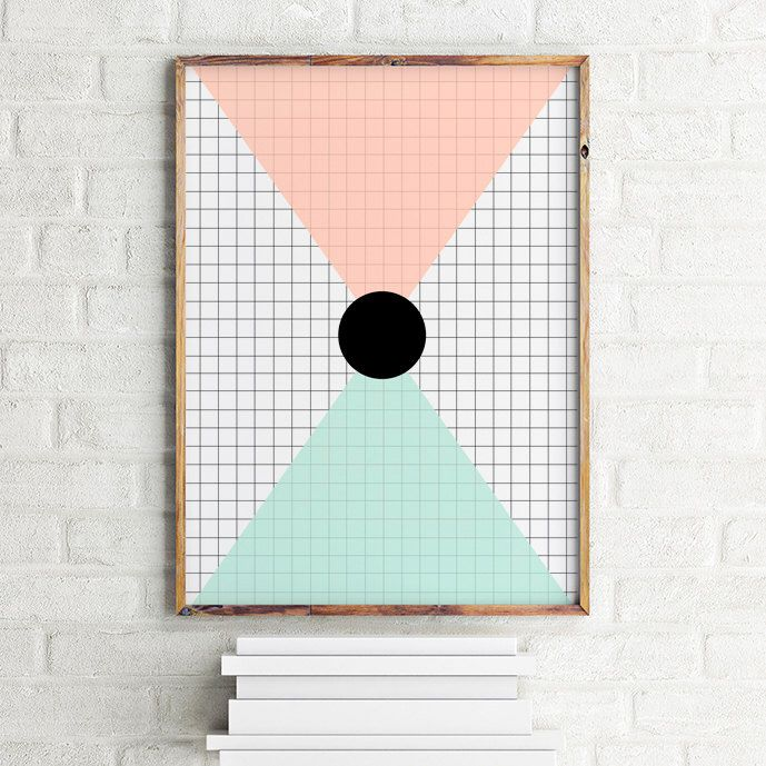 A personal favorite from my Etsy shop https://www.etsy.com/listing/244660736/geometric-art-print-poster-grid-and
