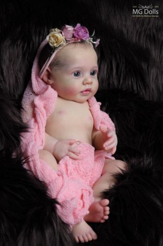 MELISSA-GEORGE-Reborn-Baby-Girl-PROTOTYPE-Lillian-by Donna Rupert EXTREMELY-DETAILED