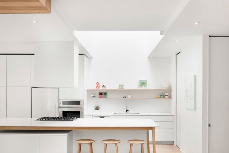 minimalistische keuken met hout