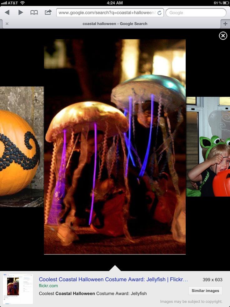 Glow stick jelly fish costume
