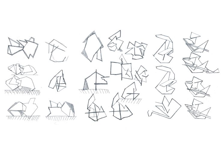 manipulation drawings of models.  Ideas for plan and sections