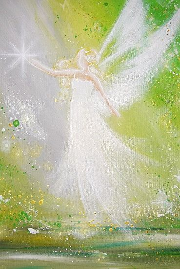 "Limited angel art poster ""volg je droom"", moderne, eigentijdse engel het schilderen, kunstwerk, print, glanzend fotopapier,...........lbxxx."