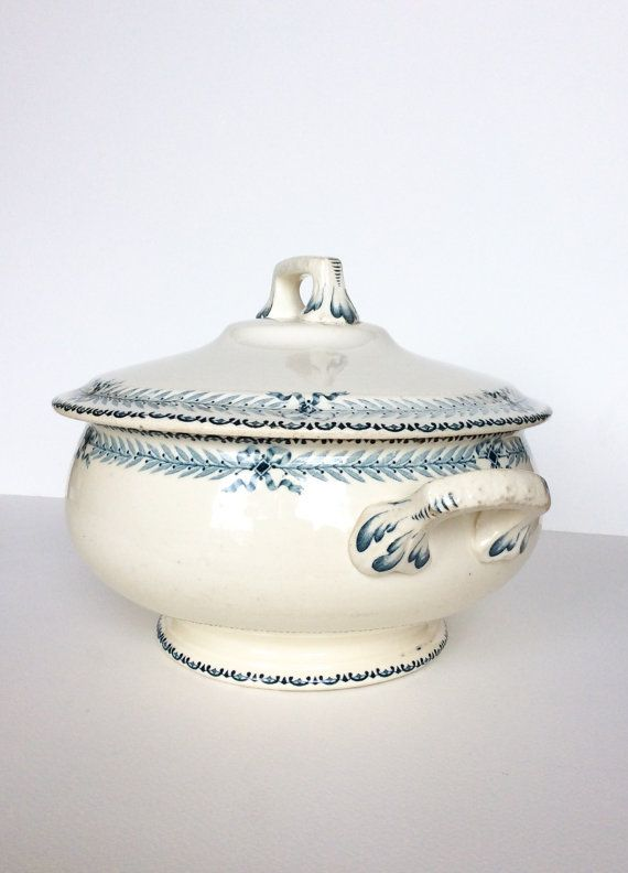 Ironstone tureen. French tureen. Soup by SouthofFranceFinds