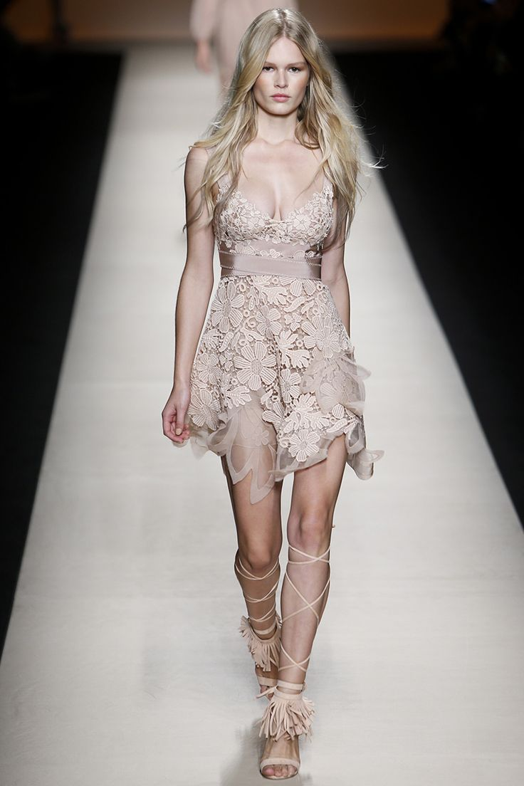 Alberta Ferretti Spring 2015 RTW Floral lace dress