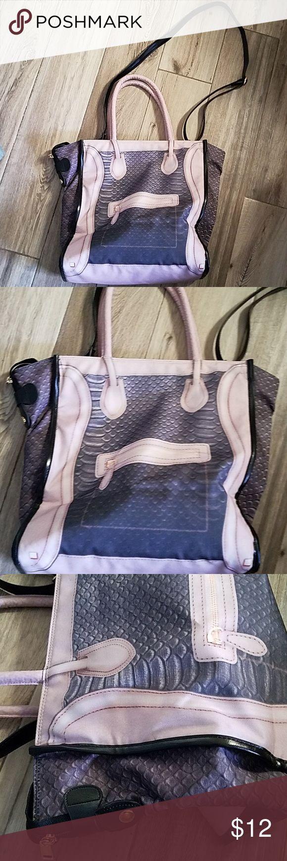 Koreanische Mode 2D-Zeichnung Schlangendruck Einkaufstasche Ich kaufte diese Tasche in einem koreanischen fas …