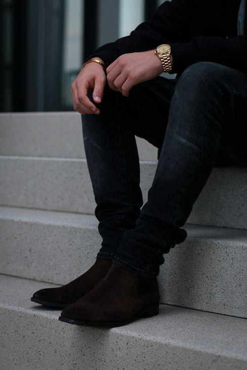 Relógio Dourado, Relógio Masculino. Macho Moda - Blog de Moda Masculina: Relógio Dourado, Dicas para Usar e Onde Encontrar! Moda Masculina, Moda para Homens, Roupa de Homem, Acessórios Masculinos, Chelsea Boot, Calça Jeans Skinny,